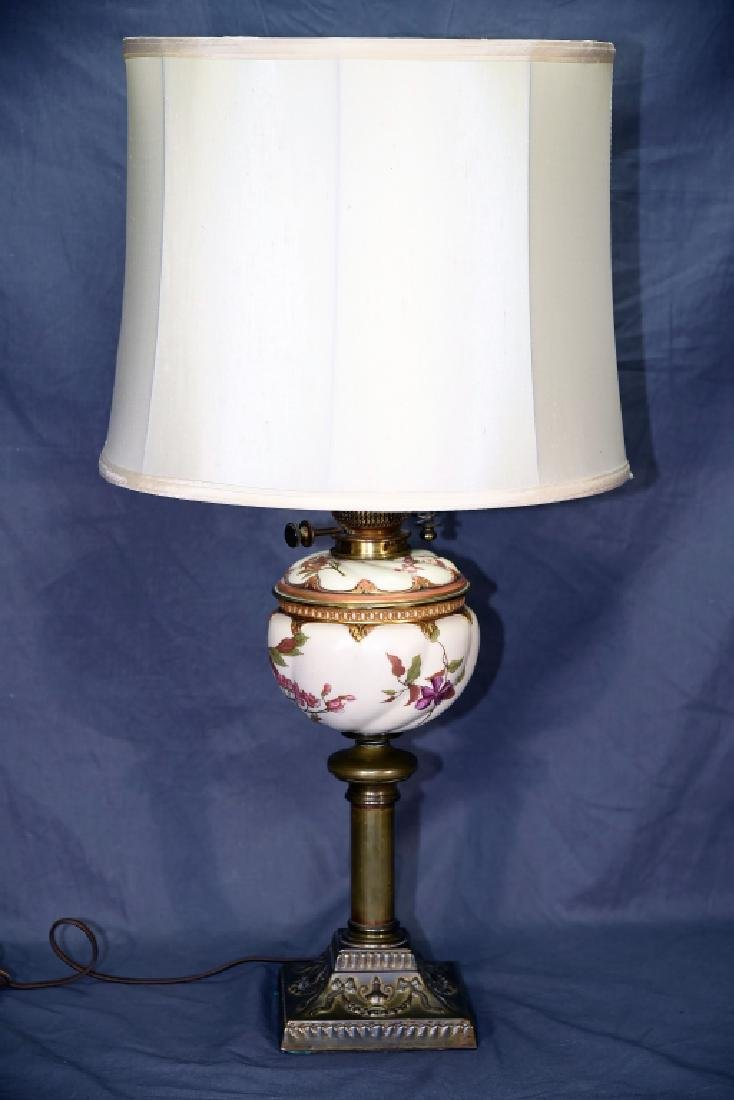 Banquet Lamp Links & Sons Hand Painted Porcelain