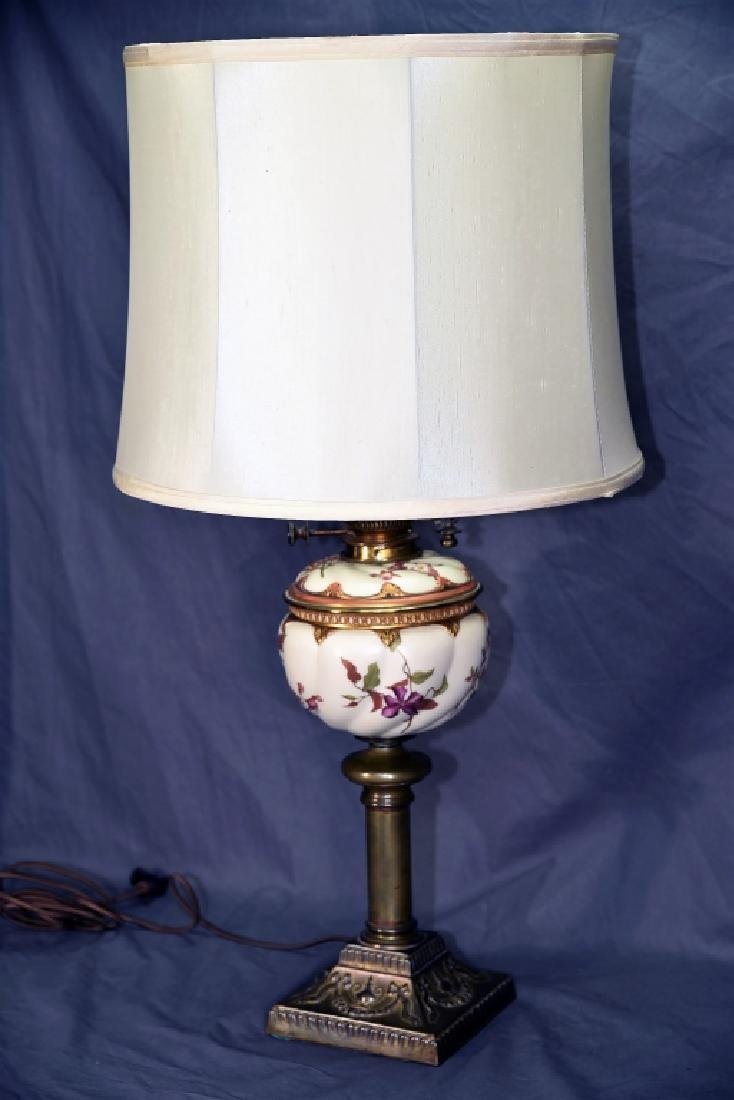 Banquet Lamp Links & Sons Hand Painted Porcelain - 2