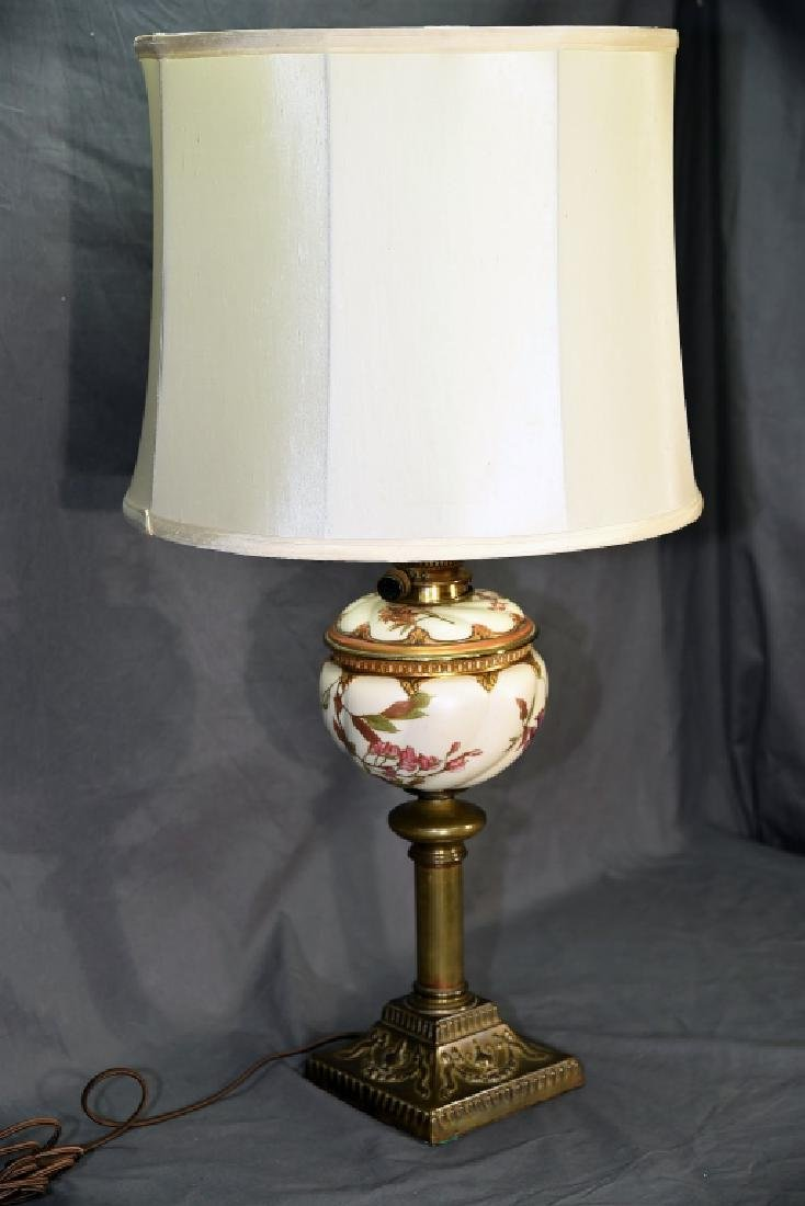 Banquet Lamp Links & Sons Hand Painted Porcelain - 3