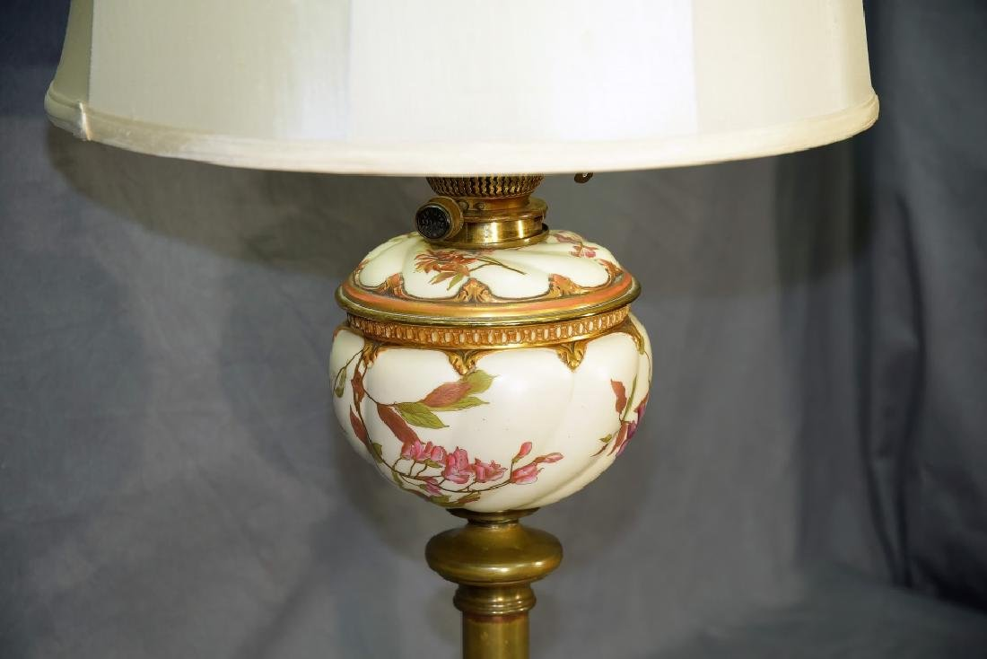 Banquet Lamp Links & Sons Hand Painted Porcelain - 4