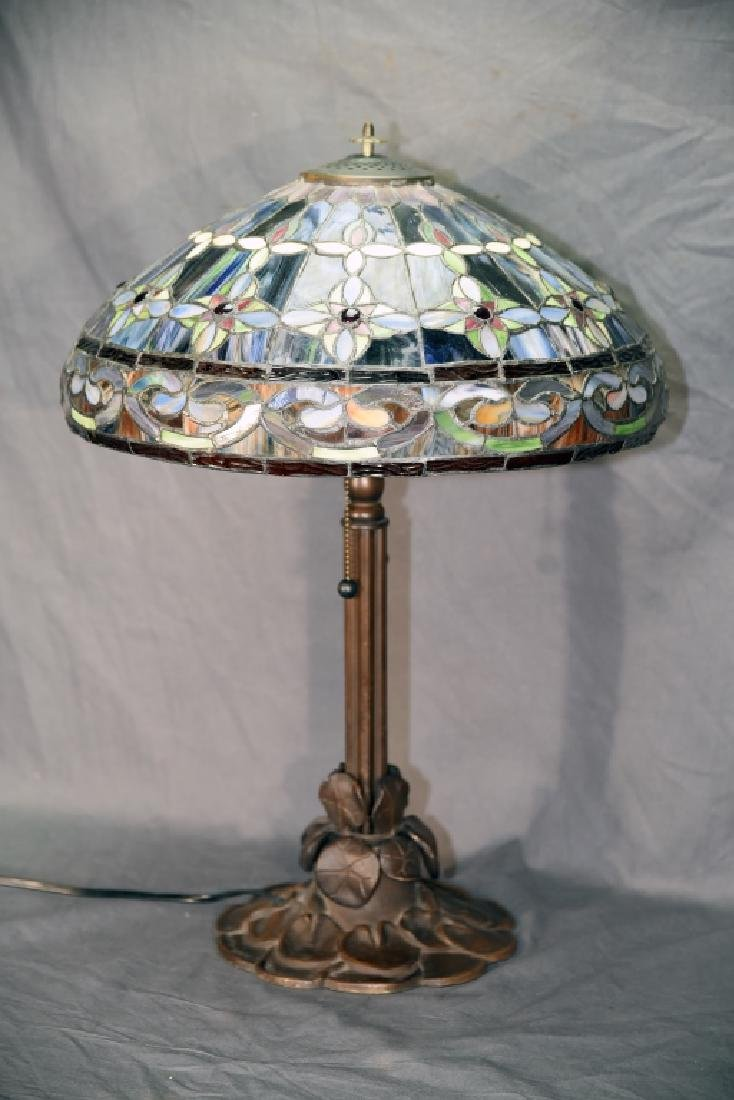 Contemporary Leaded Glass Table Lamp - 2