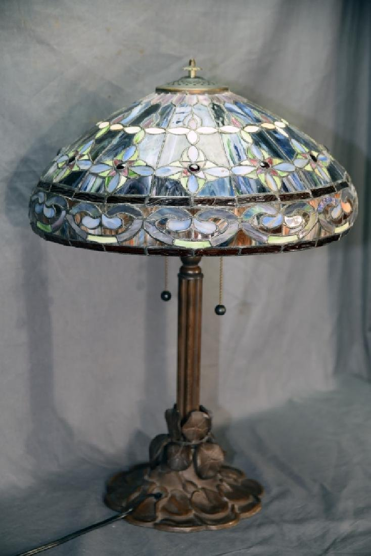 Contemporary Leaded Glass Table Lamp - 3