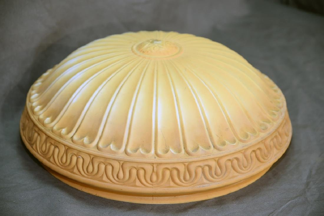 Pressed Milk Glass Shade for Hanging Fixture - 2