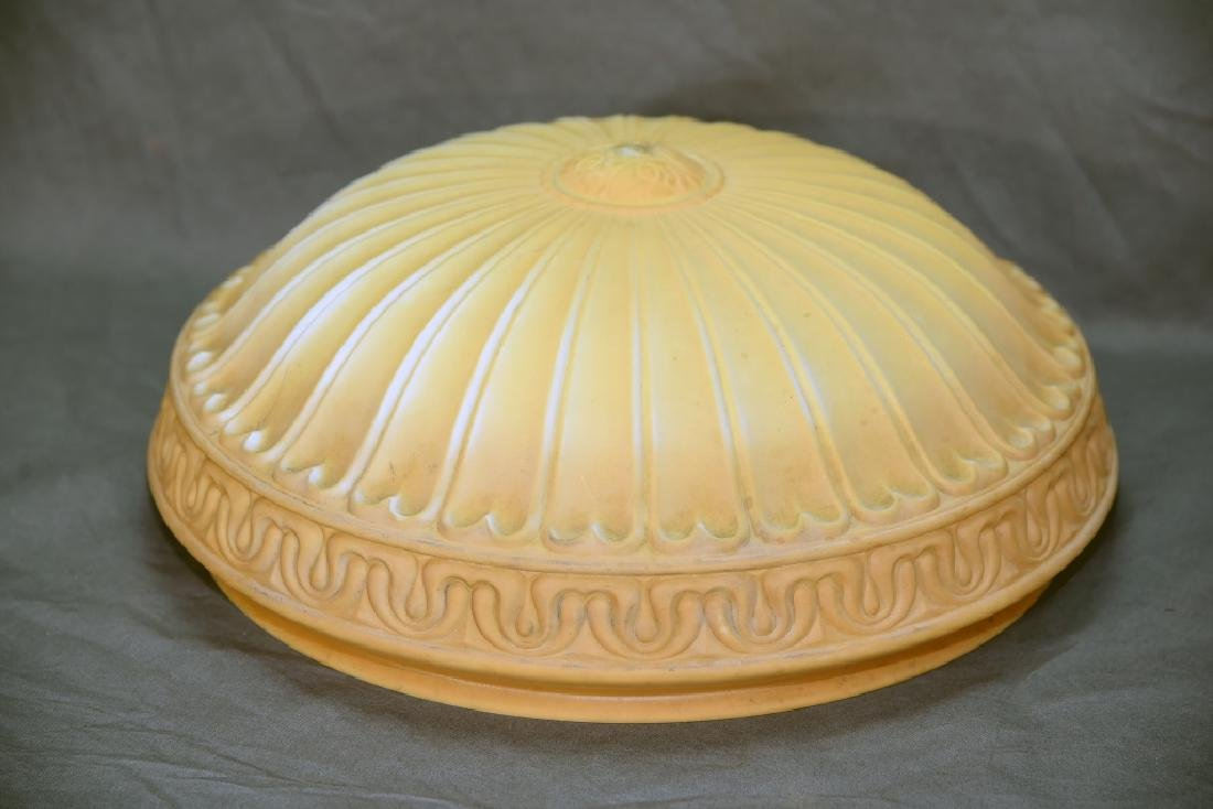Pressed Milk Glass Shade for Hanging Fixture - 3