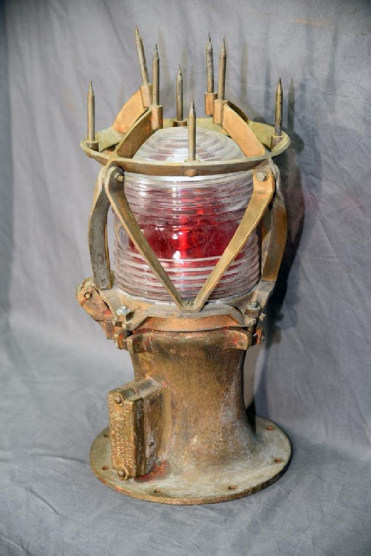 Antique Wallace & Tiernan Bronze Buoy Beacon - 3