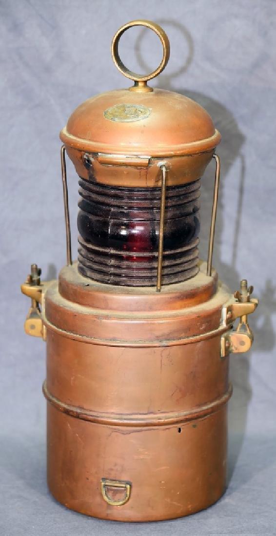 Copper Perko Lantern Perkins Marine Lamp Brooklyn