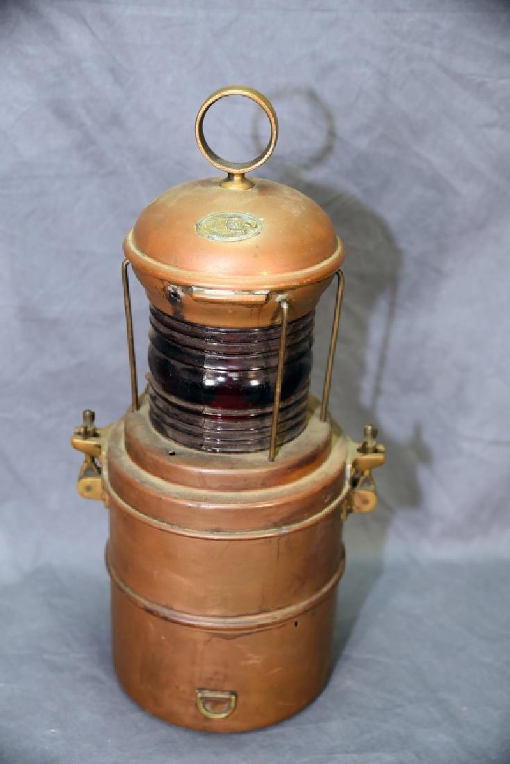 Copper Perko Lantern Perkins Marine Lamp Brooklyn - 4