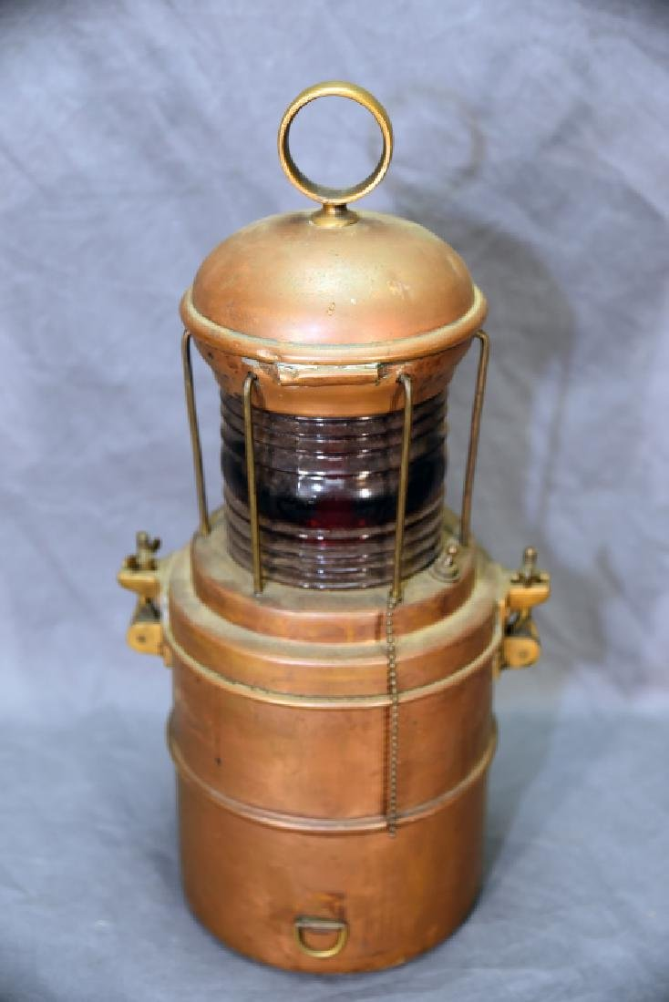 Copper Perko Lantern Perkins Marine Lamp Brooklyn - 5