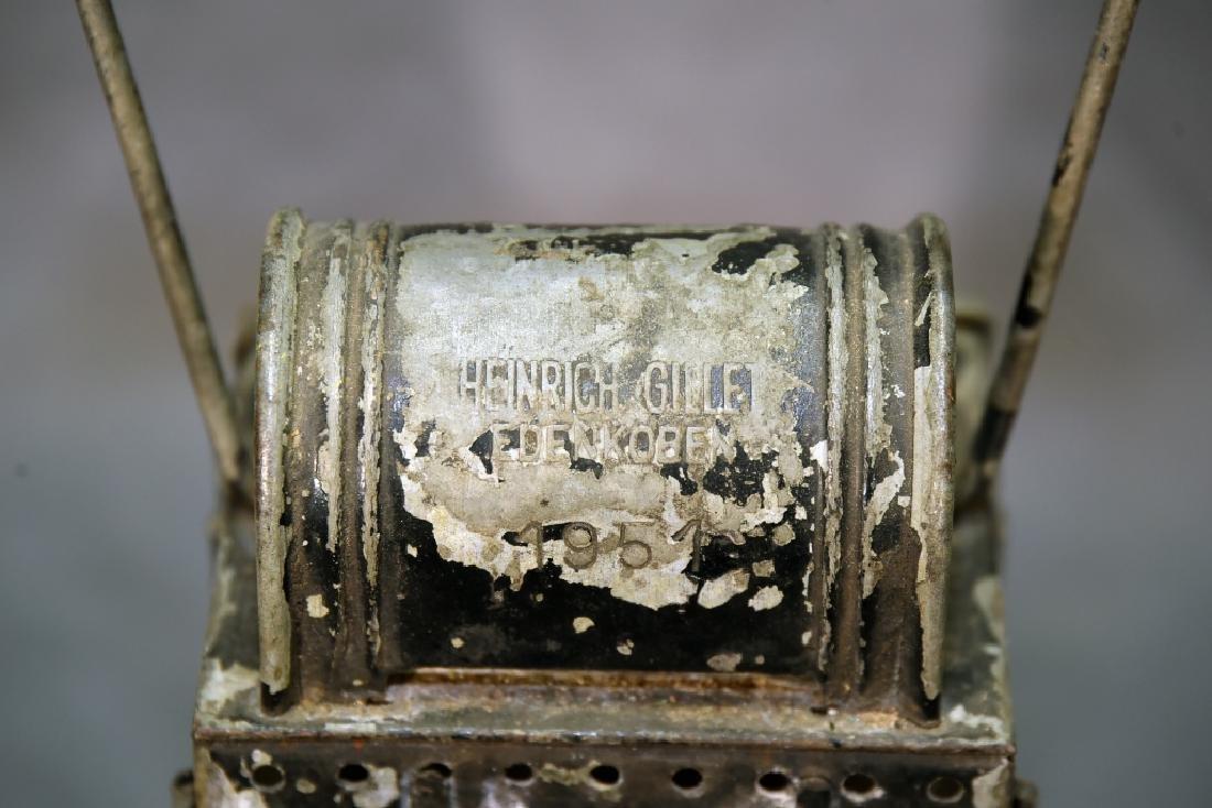 Heinrich Gillet Edenkoben 1951 Railroad Lantern - 2