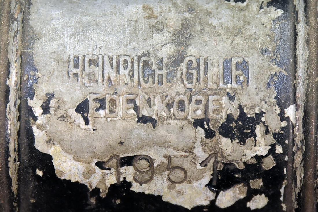 Heinrich Gillet Edenkoben 1951 Railroad Lantern - 3