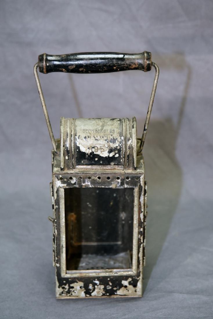 Heinrich Gillet Edenkoben 1951 Railroad Lantern - 4