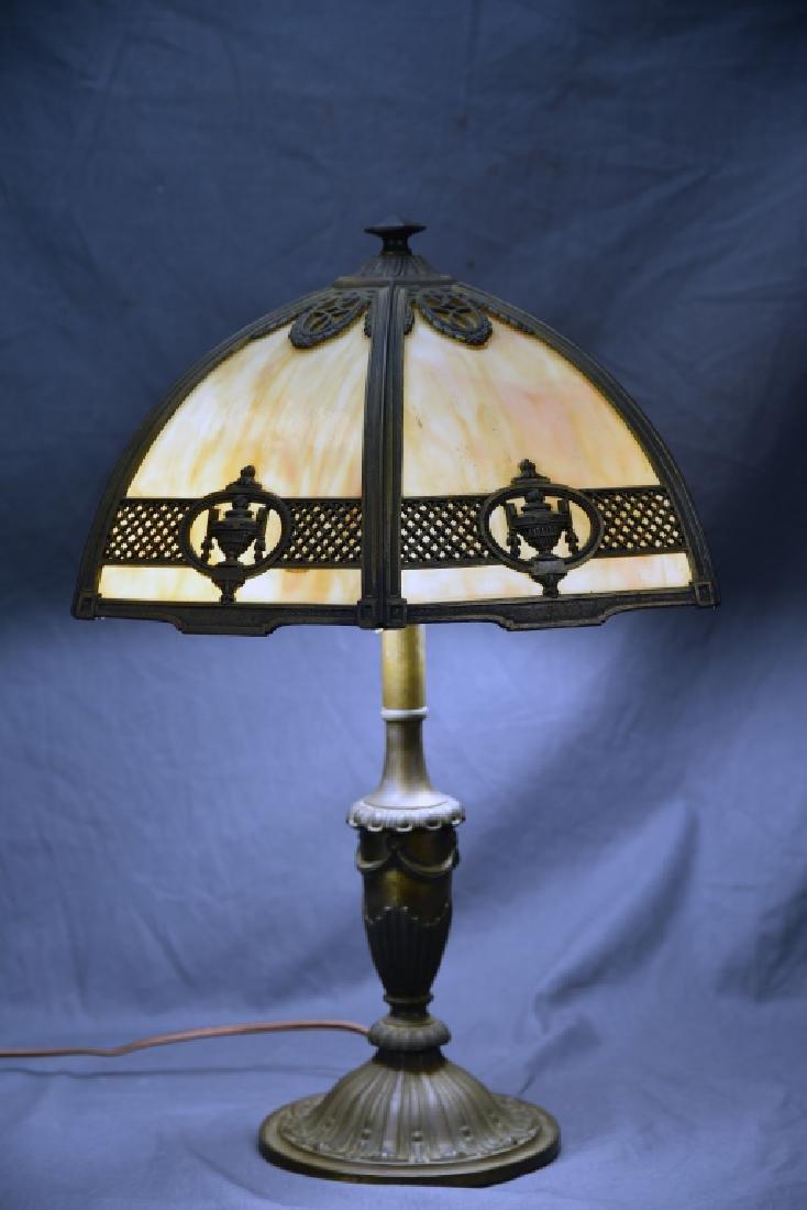 Bradley & Hubbard 6 Panel Table Lamp