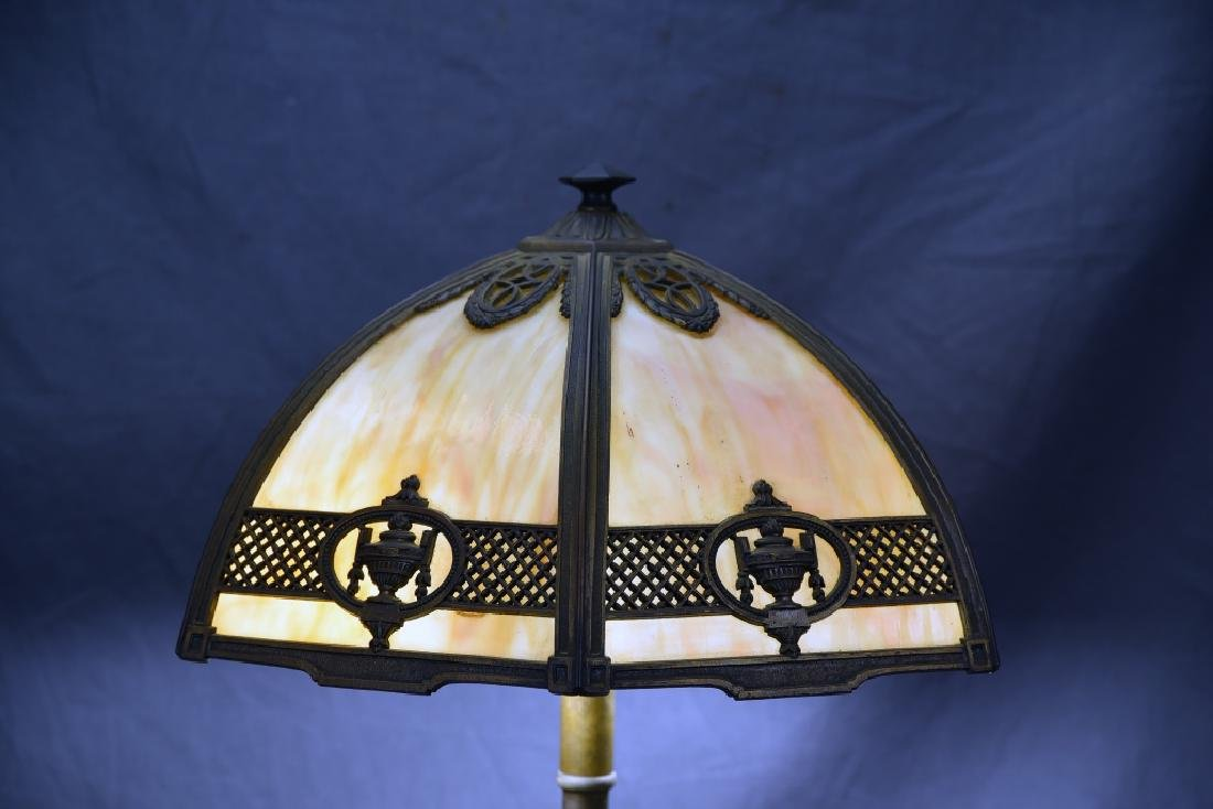 Bradley & Hubbard 6 Panel Table Lamp - 2