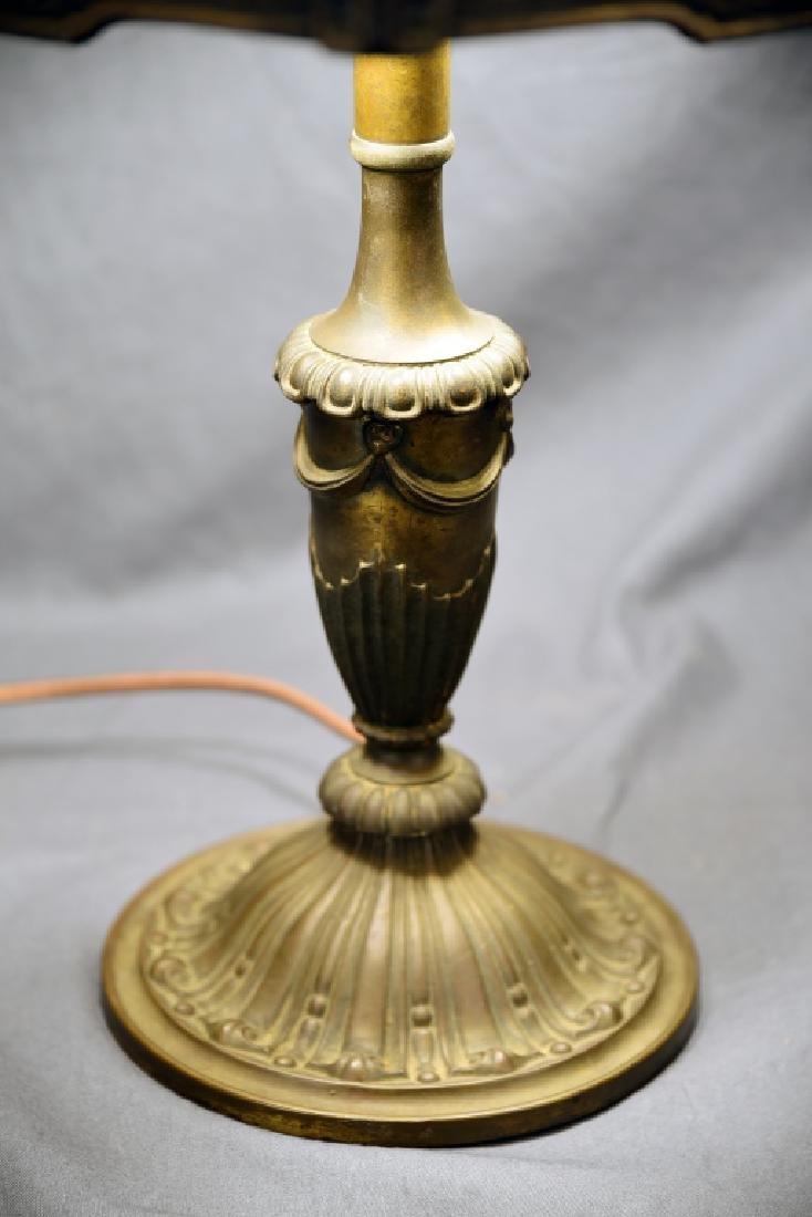 Bradley & Hubbard 6 Panel Table Lamp - 3