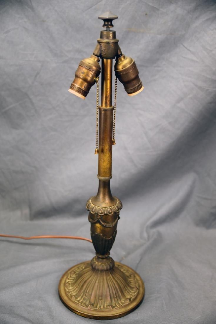 Bradley & Hubbard 6 Panel Table Lamp - 4