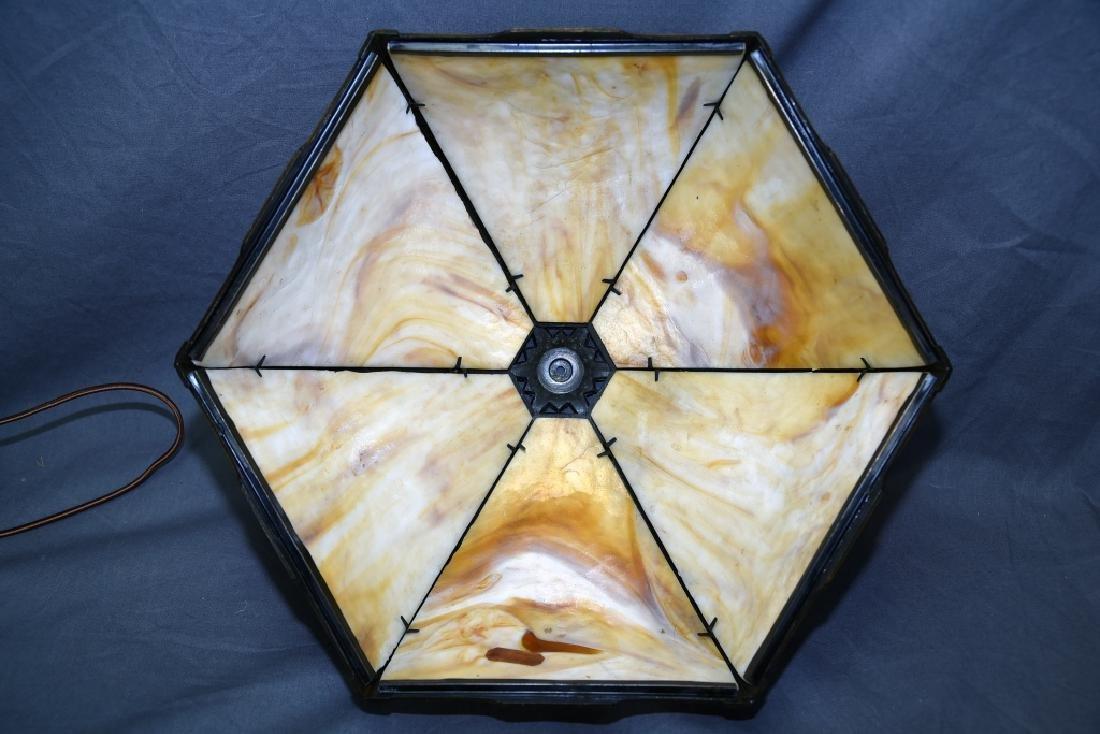 Bradley & Hubbard 6 Panel Table Lamp - 8