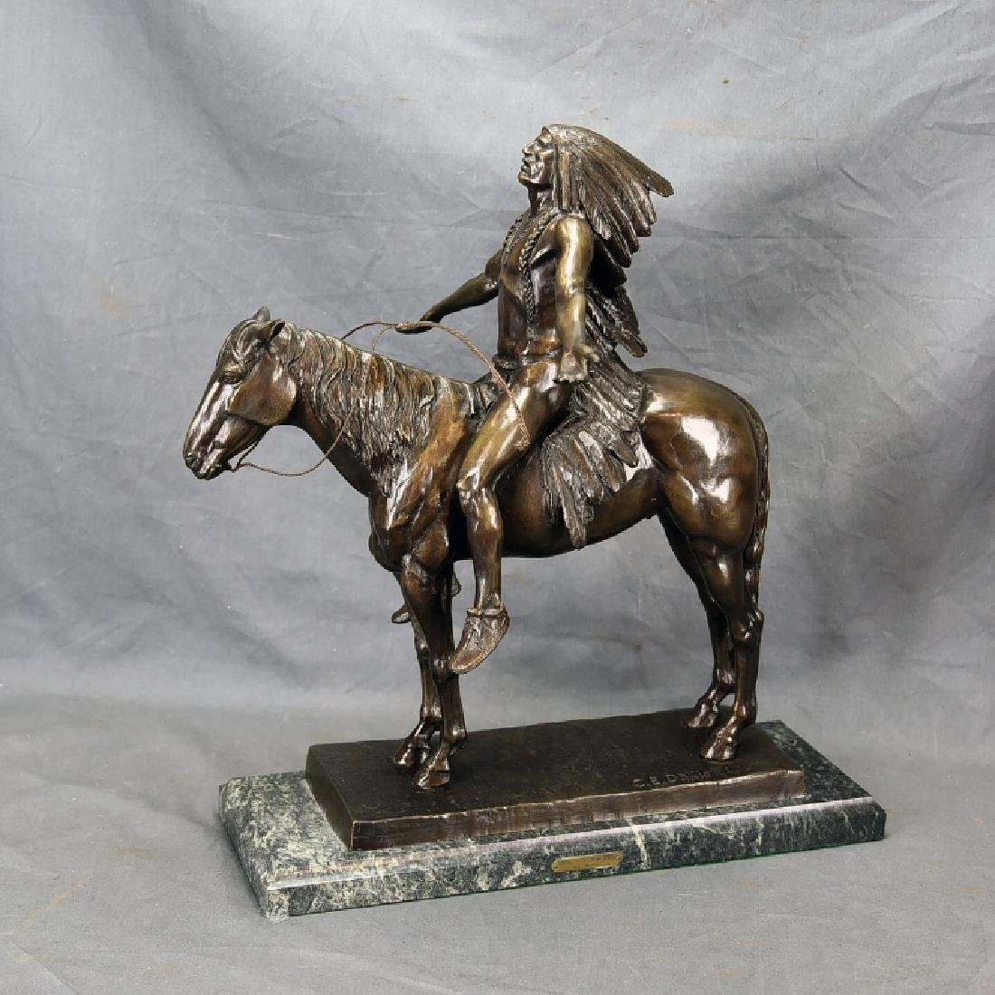 """C.E. Dallin """"Appeal To The Great Spirit"""" Bronze"""