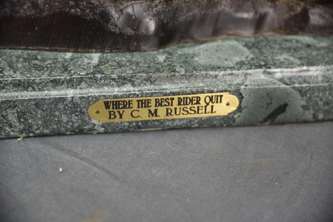 """Charles Russel """"Where The Best Rider Quit"""" Bronze - 3"""