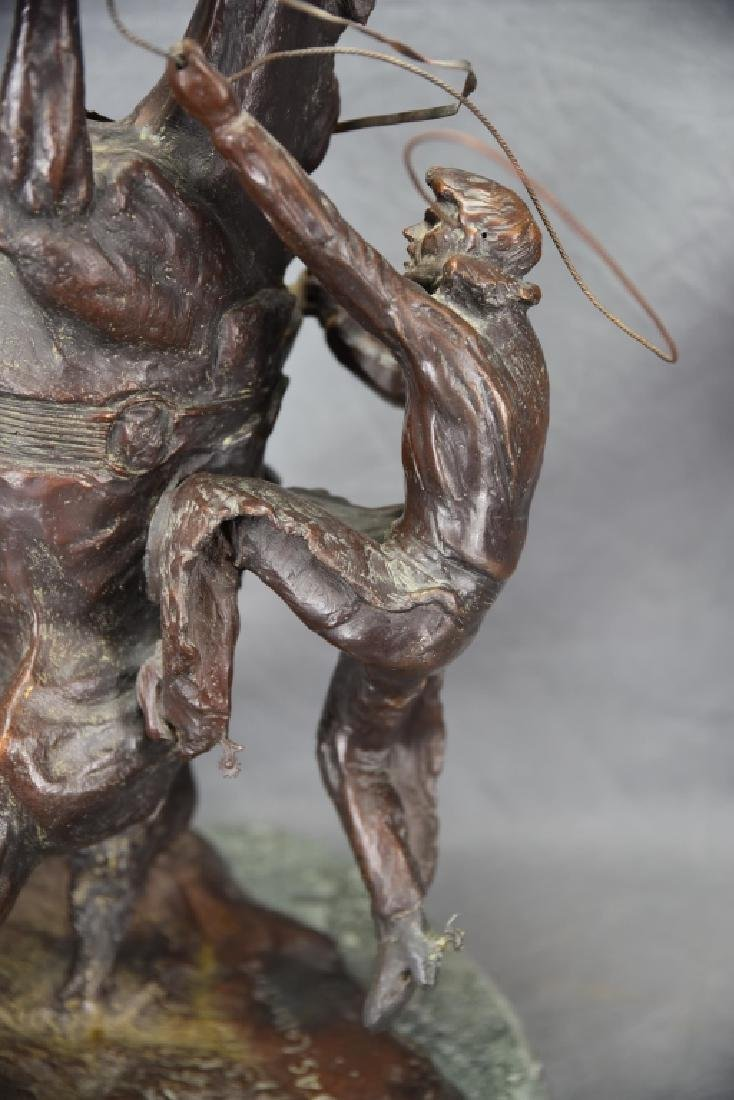 """Charles Russel """"Where The Best Rider Quit"""" Bronze - 4"""