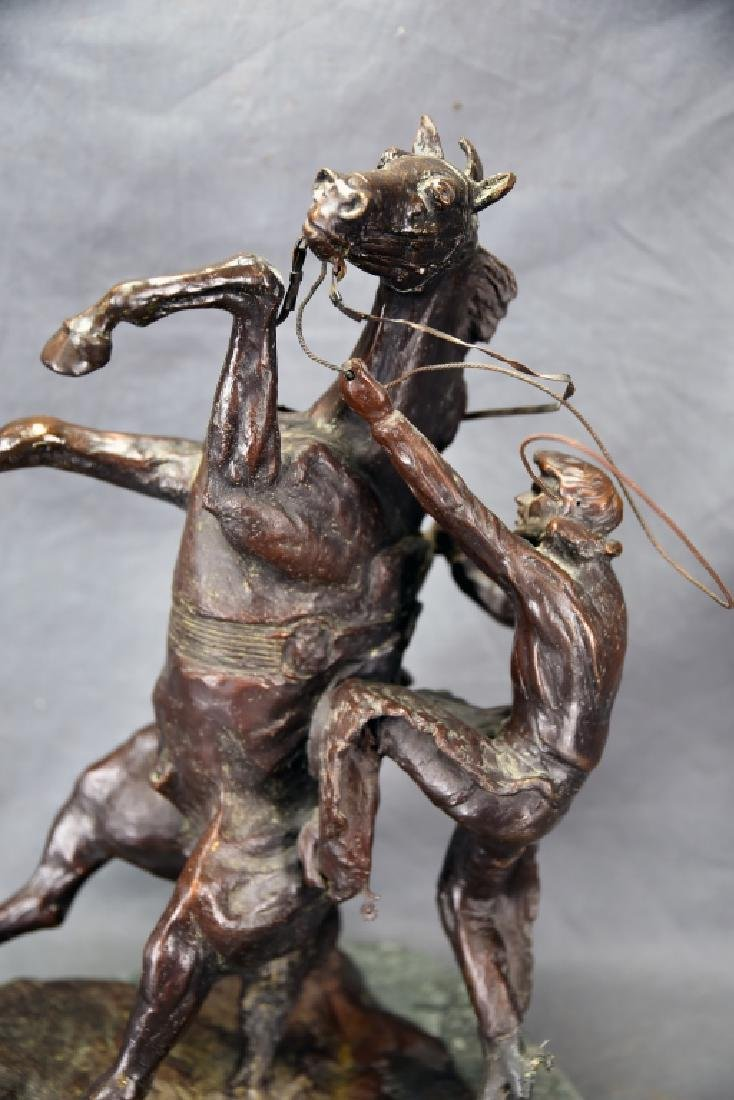 """Charles Russel """"Where The Best Rider Quit"""" Bronze - 5"""