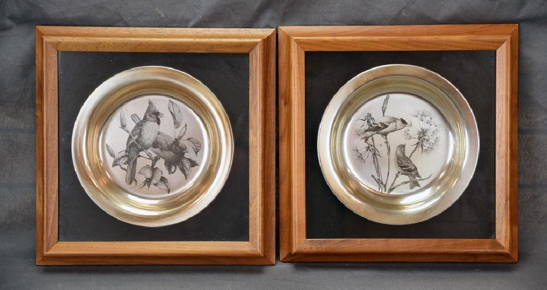 National Audobon Society Sterling Songbird Plates