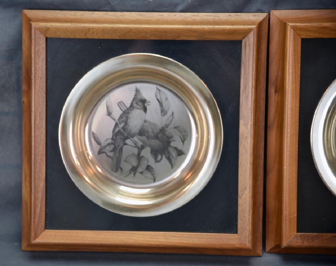 National Audobon Society Sterling Songbird Plates - 3