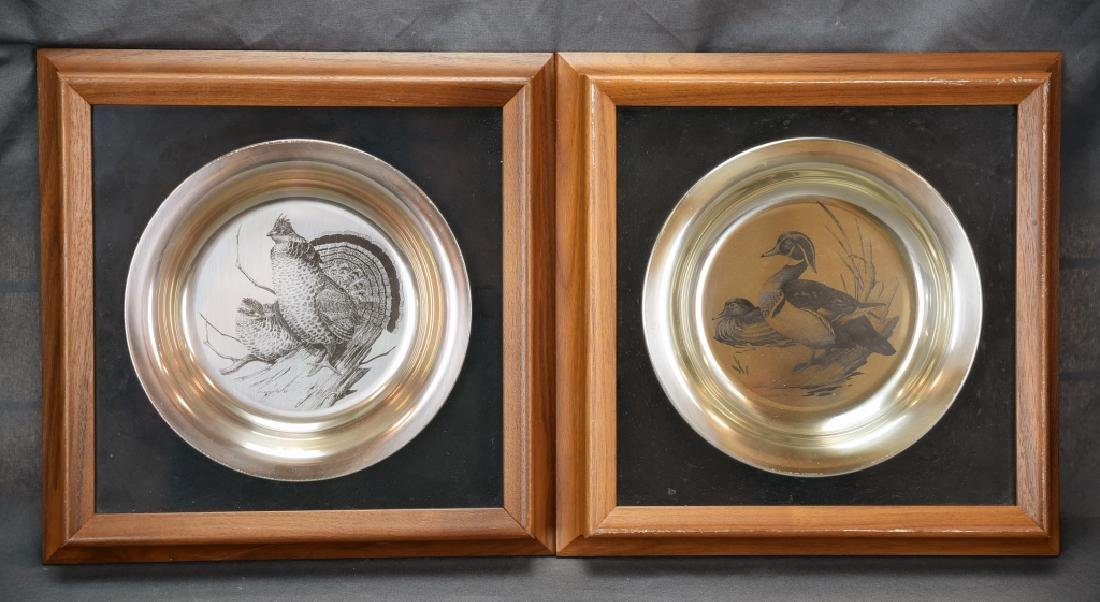 National Audobon Society Sterling Game Bird Plates