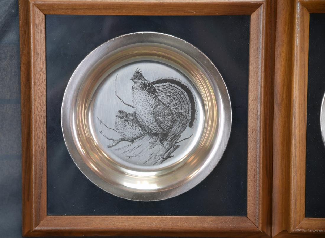 National Audobon Society Sterling Game Bird Plates - 2