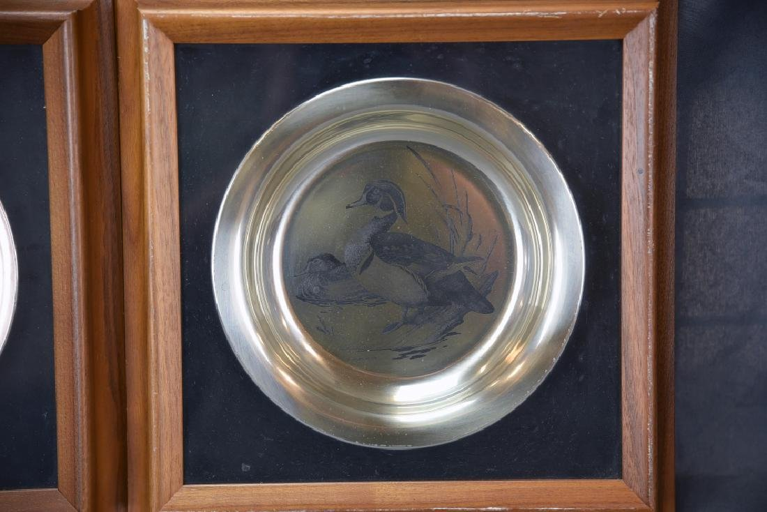 National Audobon Society Sterling Game Bird Plates - 3
