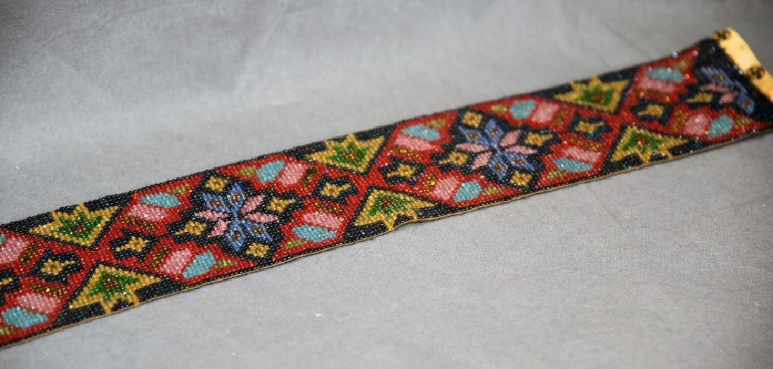 Circa 1920s Fully Beaded Ojibwe Belt - 10