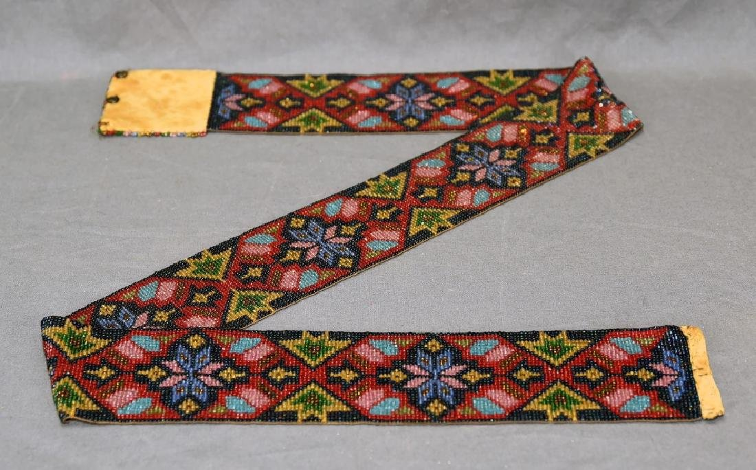 Circa 1920s Fully Beaded Ojibwe Belt