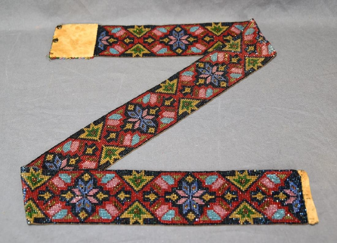 Circa 1920s Fully Beaded Ojibwe Belt - 2