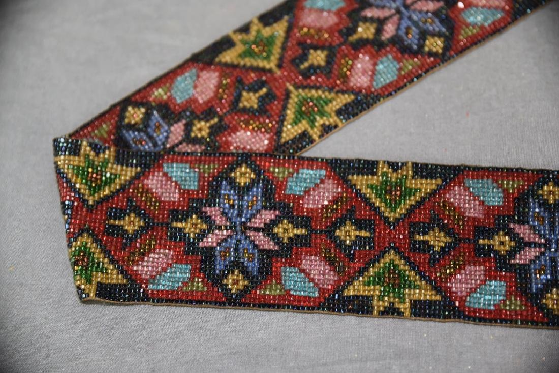 Circa 1920s Fully Beaded Ojibwe Belt - 4