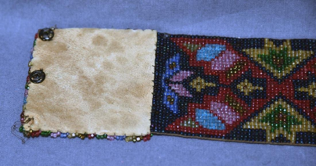 Circa 1920s Fully Beaded Ojibwe Belt - 5