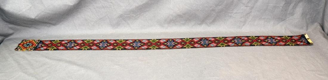 Circa 1920s Fully Beaded Ojibwe Belt - 6