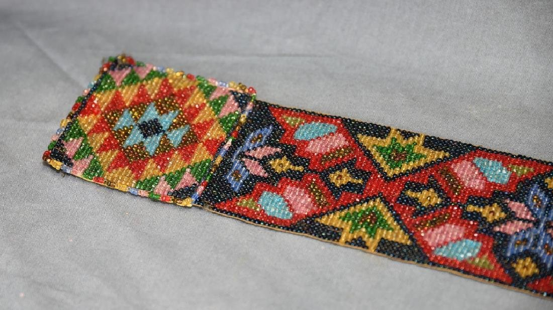 Circa 1920s Fully Beaded Ojibwe Belt - 7