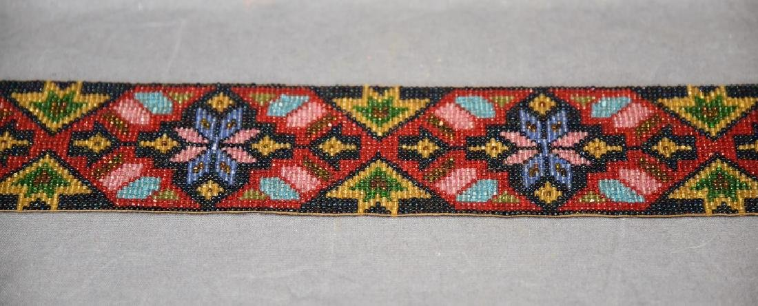 Circa 1920s Fully Beaded Ojibwe Belt - 8
