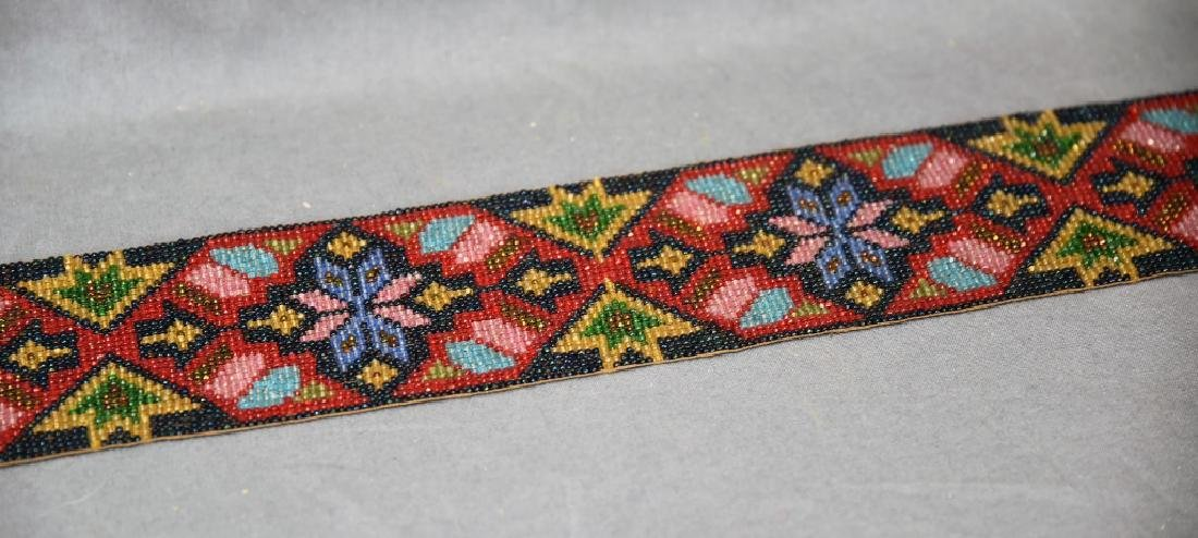Circa 1920s Fully Beaded Ojibwe Belt - 9