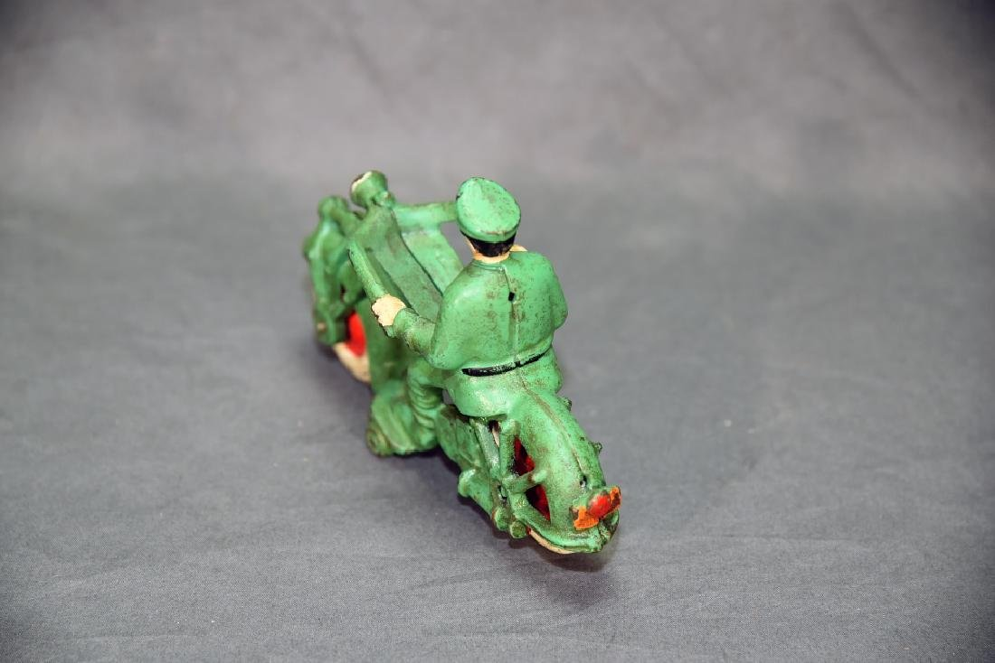 Cast Iron Motorcycle Policeman Toy - 3