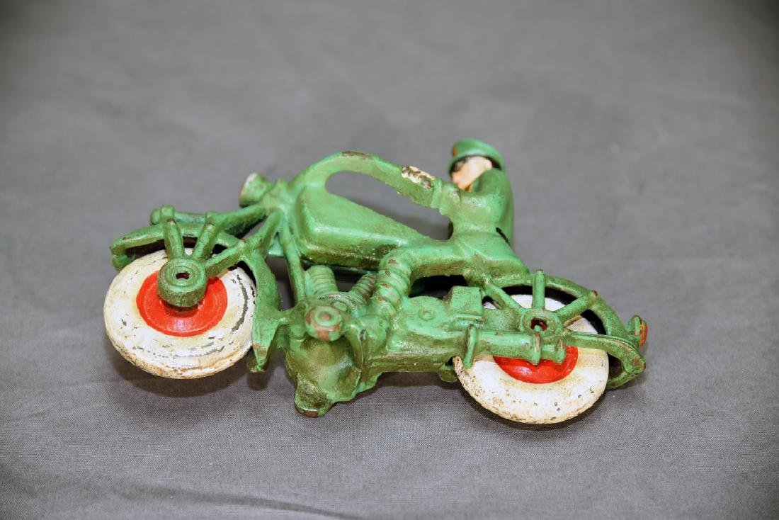 Cast Iron Motorcycle Policeman Toy - 4