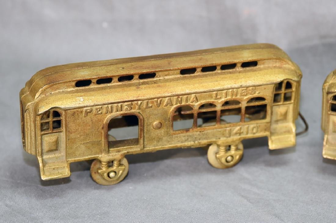 3 Cast Metal Pennsylvania Lines Toy Train Cars - 2