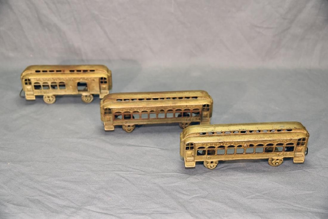 3 Cast Metal Pennsylvania Lines Toy Train Cars - 5