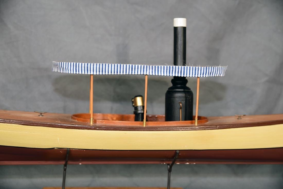 Steam Powered Model Runabout Boat on Stand - 3