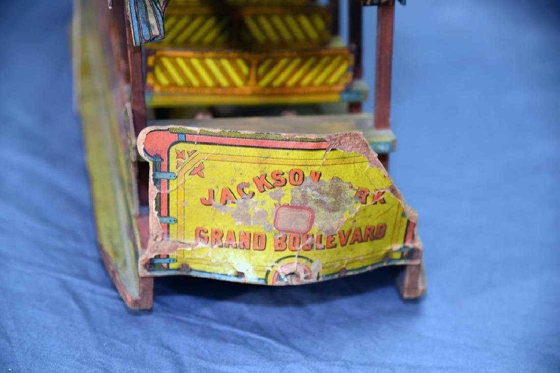 Bliss Jackson Park Paper Litho on Wood  Trolley Car - 7
