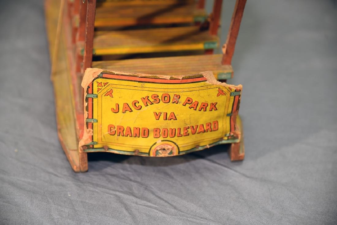 Bliss Jackson Park Paper Litho on Wood  Trolley Car - 9