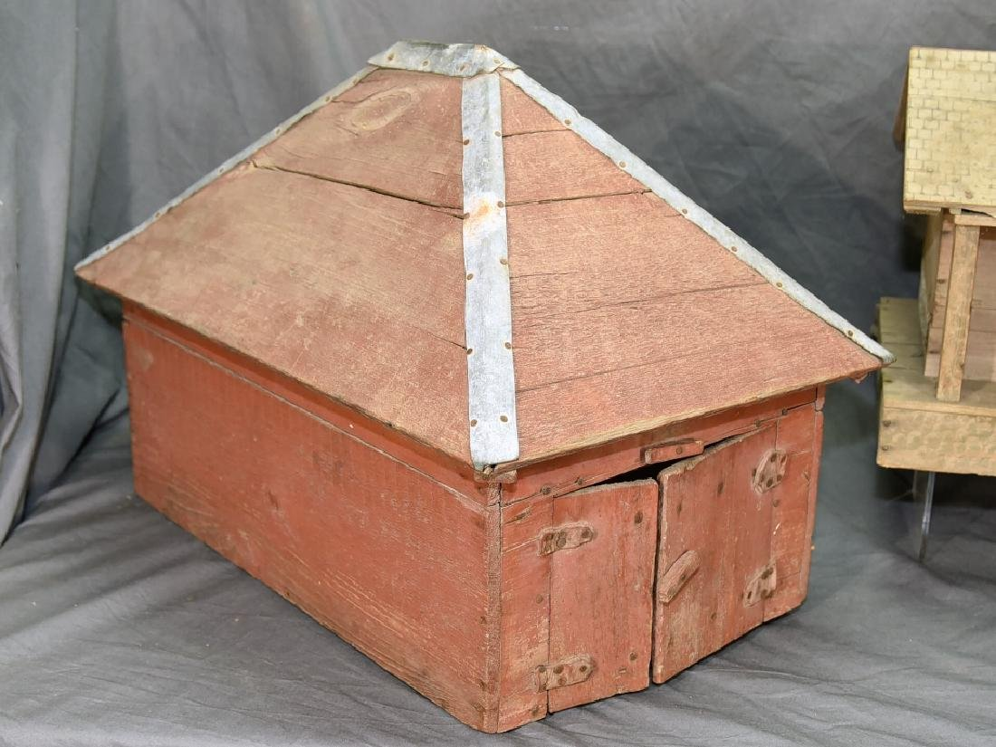 Wooden Farmhouse and Barn Set - 2