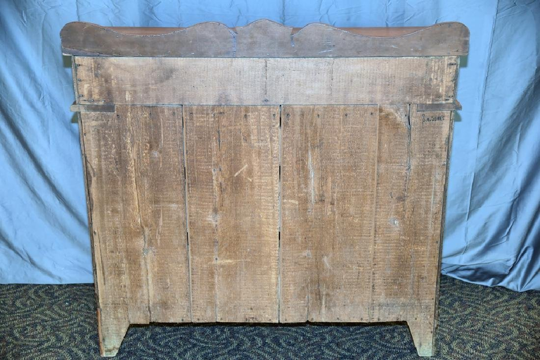 5 Drawer Pine Empire Dresser with Spool Decoration - 4