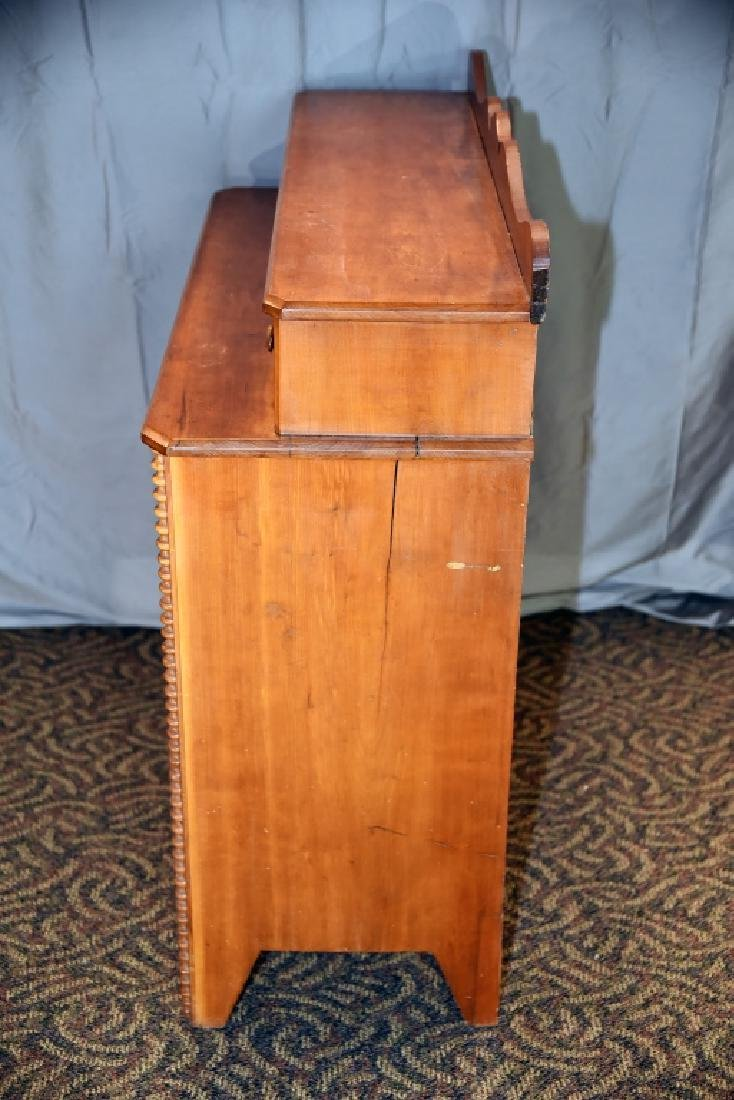 5 Drawer Pine Empire Dresser with Spool Decoration - 5
