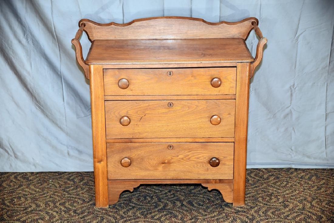 3 Drawer Walnut Washstand