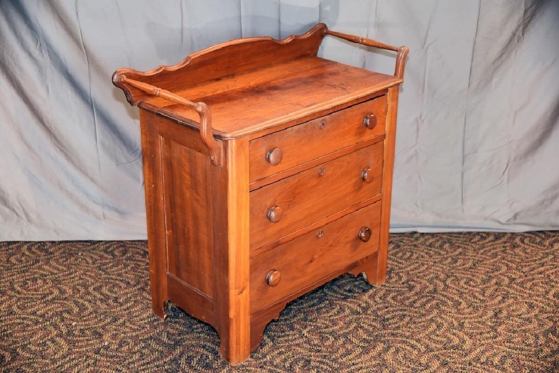3 Drawer Walnut Washstand - 2